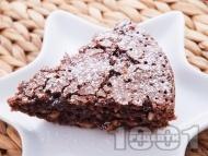 Рецепта Вкусен шоколадов сладкиш с фъстъци